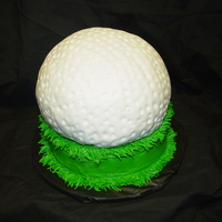 Golf Ball Butter cream grass & ball cake covered in MMF
