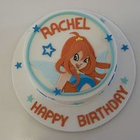 Rachel's Cake  An 8 inch orange flavoured buttercake for my niece, Rachel, who is visiting from Singapore. She turns 7. She loves Winx Club and her...