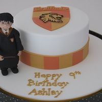 Ashley's Cake  My daughter, Ashley, just turned 9. She's a big fan of Harry Potter. She's read the whole 7-book series, and is reading it again...