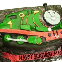 "Percy! Not your typical ""sheet"" cake! Customer was happy with a boring, flat, unrealistic version. I added some perspective...."
