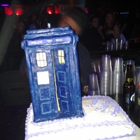 Tardis Cake the TARDIS is made of modeling chocolate