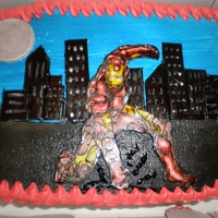 Ironman Cake iron man