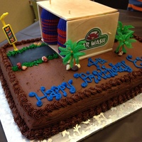 Carwash Cake It's hard to find many examples of carwash cakes out there so maybe this will help someone in the future. I used upside down mini...