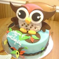 Baby Owl For A Baby Shower Cake based on a customers invite!