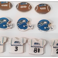 Seattle Seahawks No fail sugar cookie iced in royal icing. Edible images. Cookies for Super Bowl Sunday! Goooooooo Seahawkssssssss!!!!!