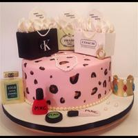 Vanilla Cake With Cream Cheese Filling Iced In Swiss Meringue And Fondant Edible Images Mini Shopping Bags Were Made With Rice Krispies T Vanilla cake with cream cheese filling, iced in swiss meringue and fondant. Edible images. Mini shopping bags were made with rice krispies...