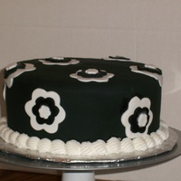 "Black And White Cake 8"" black and white cake"