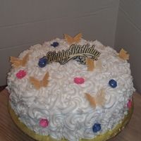 Birthday Cake 12' Lemon Vodka cake