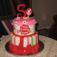 Strawberry Shortcake Buttercream frosting with fondant accents.