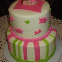 Baby Shower Buttercream w/fondant accents