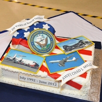 Navy Retirement My husbands cake celebrating 20 years of service