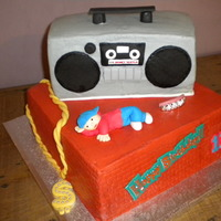 Hip Hop Birthday   Hip Hop inspired birthday for a 13 year old. All cake, buttercream frosting with fondant accents.