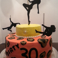 Dirty Thirty   Party was at a pole dancing studio