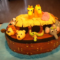 Noah's Travels Buttercream with fondant animals
