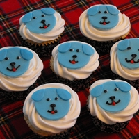 Blue Puppy Cupcakes