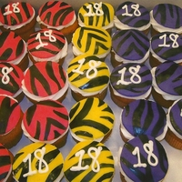 Zebra Print Cupcakes Zebra print cupcakes for 18th birthday