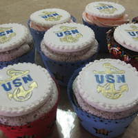 Cupcakes For A Soldier Fondant painted by hand as cupcake toppers.