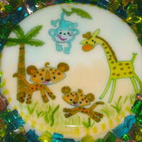 Jungle Theme Made out of gelatine and painted by hand .