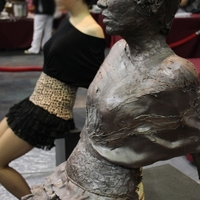 Tampa Festival Of Chocolate Life-Size Fashion Model Cake Sculpture