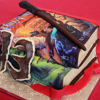 Harry Potter Book Cakes I did this for my niece.