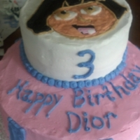 Dora The Explorer I couldn't find a Dora cake anywhere on the web that I loved, so I just went with what felt right. It's all buttercream, I did...