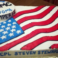Welcome Home All buttercream cake for friends brother returning from Afghanistan.