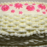 Basket Carrot cake with cream cheese icing.