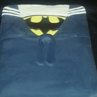 Jl Groom's Cake   Groom is in the navy and loves batman.