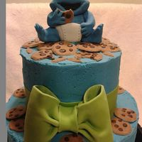 Baby Cookie Monster Cake For A Baby Shower Baby Cookie Monster Cake for a Baby Shower