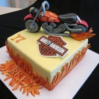 Brendan's 17Th Birthday! For my grandson's 17th birthday. Gumpaste motorcycle, Harley edible image. Thank you to all for the inspiration from your motorcycle...