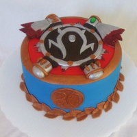 World Of Warcraft Horde Shield Cake