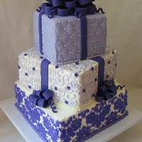 Purple Presents Cake