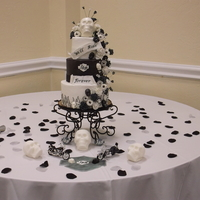 The Bride Requested Skulls For Her Black And White Harley Biker Wedding Everything Is Edible On This Cake Skulls On Table Are Sugar And T  The bride requested skulls for her black and white Harley biker wedding. Everything is edible on this cake. Skulls on table are sugar and...