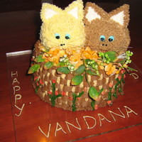 Pussy Cats 2nd birthday cake