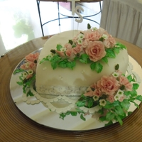 Angaement Cake this ismy friends doughter's engagement cake