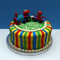 Elmo Train Cake http://totallysweetcakes.com/?p=298