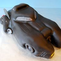 Batmobile Sculpted Cake http://totallysweetcakes.com/?p=258