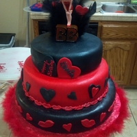 Betty Boop We Have Here A 3 Tier Cake Covered In Fondant. The Are Two ( 2 ) Red Velvet Cakes With A Cream Cheese Filling And One ( 1 ) White Cake With...