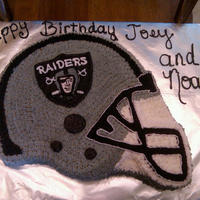 Raider Cake   White cake with buttercream frosting.
