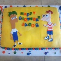 Phineas And Ferb Awesome Cake