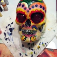 1322324487.jpg   Day of the Dead Tatoo Cake everythig is edible eyes are pulled sugar