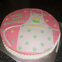 Birthday Apron Cake All buttercream with a few fondant accents!!