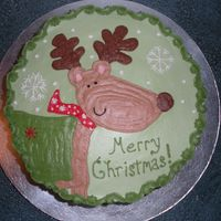 Reindeer buttercream - did freehand looking at a gift tag that had this design