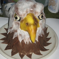 Eagle Cake Topper i was asked to make an eagle cake topper for my co-worker. i was looking and came across kaarens kakes blog and she made a really nice...