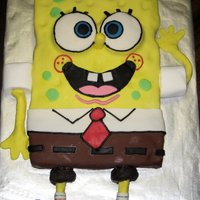 Spongebob Birthday Pants Homemade vanilla confetti cake covered with marhmallow fondant and accented with buttercream. The sleeves are extra large marshmallows, the...