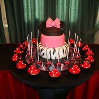 Mini Mouse Themed Cake Cupcakes And Cakepops *Mini Mouse themed cake, cupcakes and cakepops...