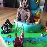 Fondant Covered Sponge Sugarpaste Characters Winnie The Pooh Themed Cake For My Grandsons 2Nd Birthday *Fondant covered sponge.. sugarpaste characters. Winnie the Pooh themed cake for my grandsons 2nd birthday