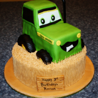 3Rd Birthday Tractor In Field