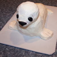 Baby Seal Baby seal birthday cake - red velvet, of course.