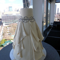 "Wedding Dress Replica Drapes With Satin Edges   wedding dress replica drapes with ""satin"" edges"